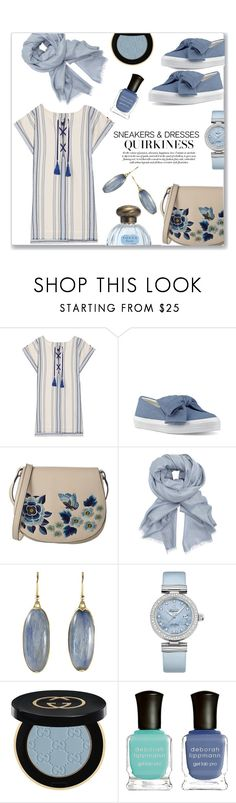 """""""Sneak Around..."""" by jckallan ❤ liked on Polyvore featuring Lemlem, Nine West, French Connection, John Lewis, OMEGA, Gucci, Deborah Lippmann and SNEAKERSANDDRESSES"""