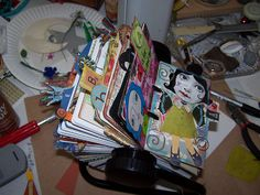 My Art Rolodex by Diane Glass, via Flickr  I am going to start one of my own! :)