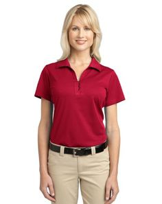 Port Authority L527 Ladies Tech Pique Polo  Rich Red  XXL *** Check out the image by visiting the link.