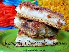 Sopaipilla Cheesecake Squares~T~ I serve these as dessert when we have a party with Mexican food.