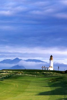 Blue & white skies @Jane Izard Izard Cooley Golf Resort - Ailsa Course 11th hole #golf