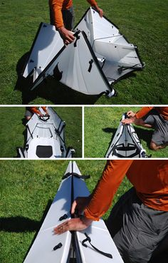 Origami Kayak: Packs Flat, Folds Up to Form its Own Case | Urbanist