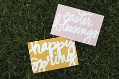 Free Easter/Spring Cards and Wordart from Ali Edwards #projectlife