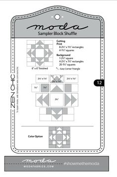 Moda Sampler Block Shuffle - Block # 12