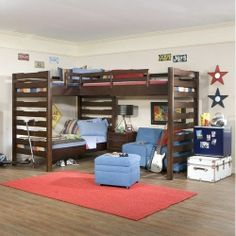L Shaped Loft Jake S Amish Furniture Lb7482 L Shaped