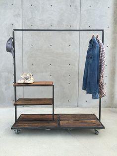Beautiful Handmade Vintage Industrial Clothes Rack | Diy Home Decor By  Stéphane K. | Pinterest | Vintage Industrial, Industrial And Vintage