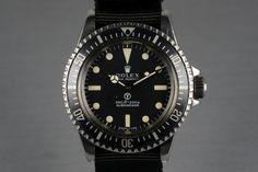 1974 Rolex Submariner 5513 Military Spec