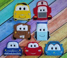 Cars Felt Finger Puppets by TreasuredForever on Etsy
