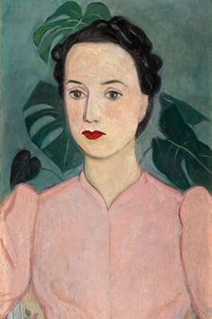 Einar Jolin (Swe portrait of lady in pink, 1939 Oil on canvas, cm Woman Painting, Painting & Drawing, Knife Painting, Painting Abstract, Acrylic Paintings, L'art Du Portrait, Beauty Portrait, Portrait Paintings, Art Paintings