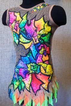 Etsy の Kaleidoscope leotard for rhythmic gymnastics by ALEXARGL