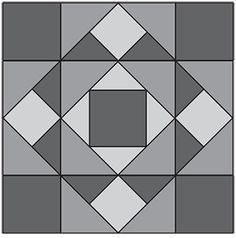 Around the Corner, part of Quilter's World's FREE Quilt Block of the Month. - Would make an awesome crochet afghan to change things up a bit. Barn Quilt Designs, Barn Quilt Patterns, Pattern Blocks, Quilting Designs, Big Block Quilts, Quilt Blocks, Small Quilts, Quilting Templates, Quilting Projects