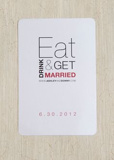 af8e850e4a74 Items similar to Eat Drink   Be Married Wedding Shower Invitation on Etsy