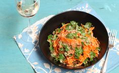 Organic Toasted Coconut & Carrot Salad - Abel & Cole
