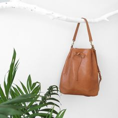 New in! Perfect classic leather bucket bag available in camel color! One of a kind :)  It is made in our little studio from best quality vegetable tanned leather.