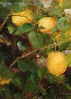 """The Lemon Tree"" ~ Art by Cathy Anderson"