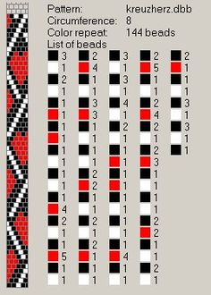 8 around. Tutorial: Design Tubular Bead Crochet Jewelry Patterns by Lablun's Stitch Art op Youtube .