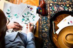 William Morris Inspired #Effio #socks #pattern #flowers #birds