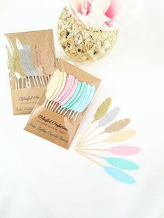 Boho Party - Feather Cupcake Toppers, Feather Toppers, Boho Party Decorations, Boho Toppers, Wild One Birthday, Boho Birthday by BlissfulPerfections on Etsy https://www.etsy.com/listing/499544776/boho-party-feather-cupcake-toppers
