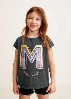 93ac2fd8c6b1 Sequins printed t-shirt - Girls | Mango Kids United Kingdom