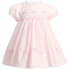 Baby Girls Pink Hand Smocked Dress, Sarah Louise, Girl