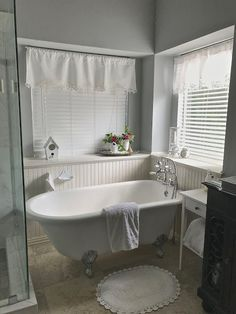 Let's Add Sprinkles: Master Bath Wear And Tear After 7 Years White Valance, Cottage Bathrooms, Hotel Soap, French Country Christmas, Silver Platters, Cool Mirrors, Black Granite, Antique Boxes, Linen Towels