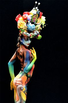 Phantasmagoric body art from this year's World Bodypainting Festival