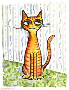 Jim Benton smug orange tabby cat