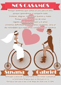 tarjetas Wedding Tips, Dream Wedding, Invitation Cards, Wedding Invitations, People Fall In Love, Mermaid Birthday, Some Words, Photo Book, Got Married