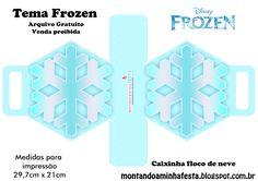 Montando a minha festa: Sacolinha flocos de neve Frozen