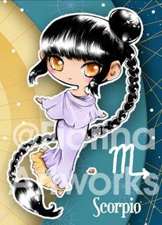 Chibi Starsigns - Scorpio by Fiorina-Artworks on deviantART
