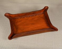 Leather Desk Tray and Catchall, Pencil Tray Pen Tray