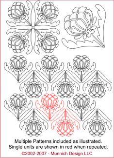 Munnich Design - Digital Quilting Pattern - Thistle