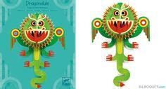 Tableau Pop-up Dragondule Little Big Room by Djeco - Chambre Arthur
