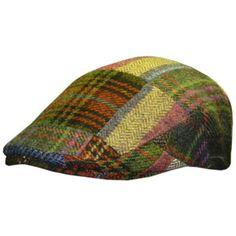 Shandon 100/% Wool Irish Flat Cap Gray Herringbone