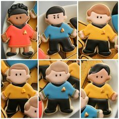 Star Trek Cast Cookies- awesomeness! I have to make these!!
