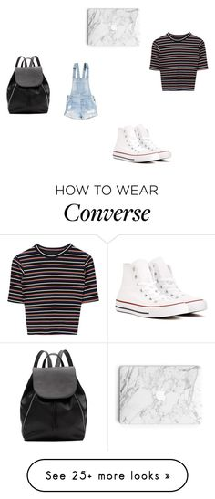 """""""school outfit"""" by shafeeqa on Polyvore featuring H&M, Converse and Witchery"""