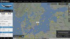 Iljušin-96-300PU Etelä-Ruotsin yllä.