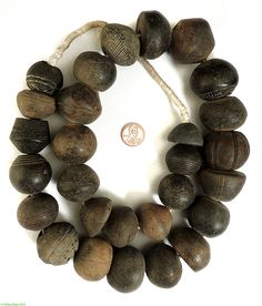 Clay Spindle Whorls Beads Big Old Mali African Museum Collection