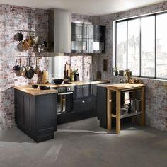 Idée déco cuisine noire - Idée cuisine Decor, Furniture, House, Deco, Table, Home Decor, Kitchen
