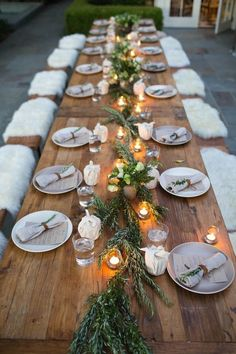 country rustic wedding table decoration ideas with floral and candle lights #JustRustic