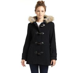 MARC NEW YORK by ANDREW MARC Pristine Toggle Coat ($287) ❤ liked on Polyvore