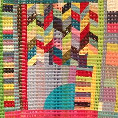 coloured quilting by Lu Summers