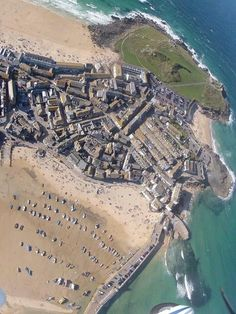 ST IVES | Cornwall. Aerial view ✫ღ⊰n