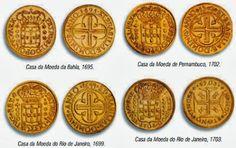 Em 1694, D. Pedro II, rei de Portugal, criou a primeira Casa da Moeda, na Bahia. Todas as moedas de ouro e de prata em circulação na Colônia deveriam ser enviadas à Casa da Moeda para serem transformadas em moedas provinciais. No entanto, as dificuldades e os riscos do transporte fizeram com que a Casa da Moeda fosse transferida de uma região para outra. Em 1699, mudou-se para o Rio de Janeiro; no ano seguinte, para Pernambuco; e de novo para o Rio, em 1703.