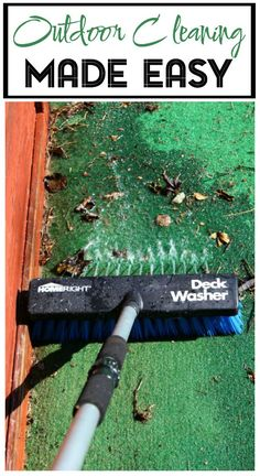 Outdoor Cleaning Made Easy • HomeRight Deck Washer