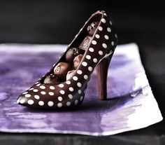 High Heel Chocolate Mold: Filled with hand rolled assorted truffles. Chocolatier: Andrea Pedraza (CocoAndré Chocolatier)