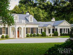 Architect D. Stanley Dixon rebuild of a beloved Neel Reid Buckhead estate. Emily Followill photo in Atlanta Homes & Lifestyles.
