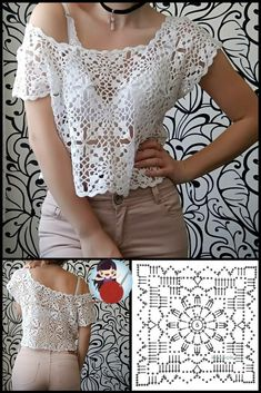 Crochet Top Outfit, Crochet Jumper, Crochet Skirts, Crochet Fabric, Crochet Collar, Crochet Jacket, Crochet Cardigan, Crochet Clothes, Crochet Poncho Patterns