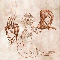 Daughter of Smoke and Bones - sketches by Jo-yumegari