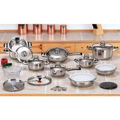 28pc. 12Ply T304 Stainless Steel, Waterless Cookware set NEW!! -- Check out the image by visiting the link.